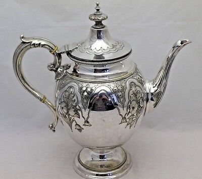 Antique Superb Victorian SilverPlate Tea Pot or Coffee Pot