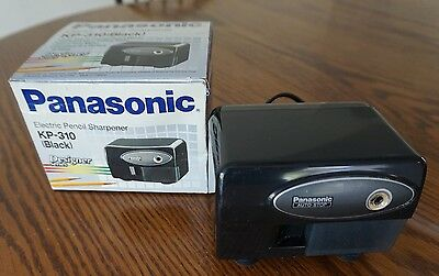 Panasonic KP-310 Black USED In Box Electric Pencil Sharpener Designer
