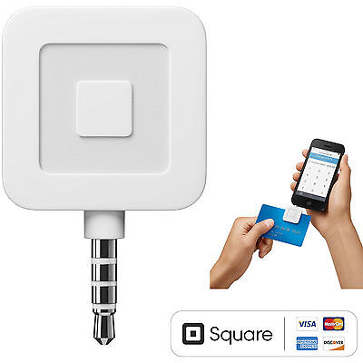 New Square Credit Card and Debit Card Reader for iPhone and Android Compatible