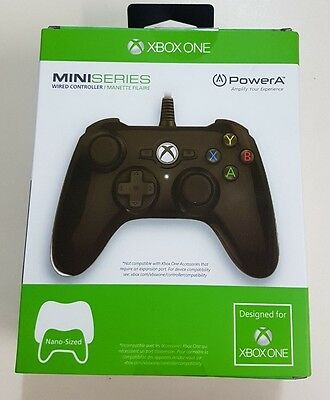 Xbox One - PowerA Mini Series Black Wired Controller - NEW - Fast Dispatch