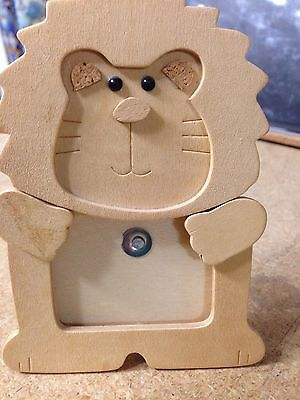 """Baby/Kids Photo Frame Wooden 2"""" Lion Table Top Picture"""