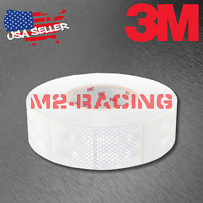"3M Diamond Grade White Conspicuity Tape 2"" x 2"" CE Approved Reflective Safety"