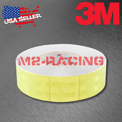 "3M Diamond Grade Neon Yellow Conspicuity Tape 2"" x 2"" CE Approved Reflective"