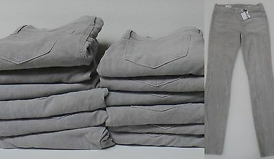 RESALE LOT of 12 PAIR GAP SKINNY CORDUROY JEANS GRAY WHOLESALE SIZE 25, 26, 27