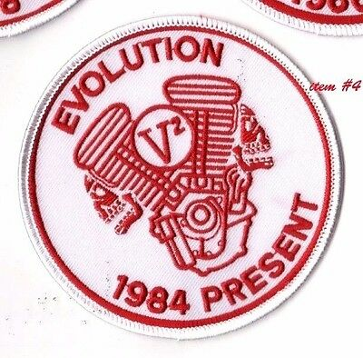 CAFÉ RACER ROCKERS FOREVER TON-UP BOYS IRON-ON white PATCH: EVOLUTION V2 ENGINE