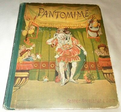 1883 PANTOMIME, A PICTURE SHOW For YOUNG CHILDREN, ROUTLEDGE, CLOWNS in COLOR !