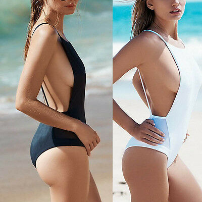 Women One Piece Monokini Swimsuit Swimwear Beachwear Push Up Bathing Bikini 2017