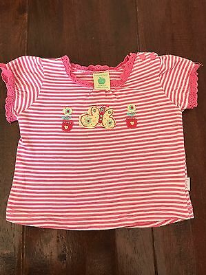 Pumpkin Patch Baby Girls Tshirt Top Size 0-3 Months 000 Like New