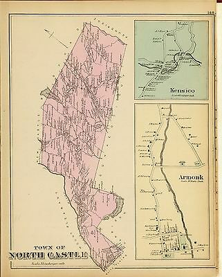 1881 WESTCHESTER COUNTY NEW YORK old plat map GENEALOGY Atlas LAND OWNERS DVD P2