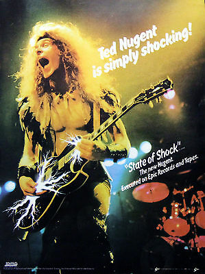 Ted Nugent Vintage & Rare 1970s / 1980s Promotional Ads Collection
