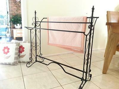 French Style Quilt / Blanket Stand Bathroom Towel Rail Rack Scarf Display BLK003