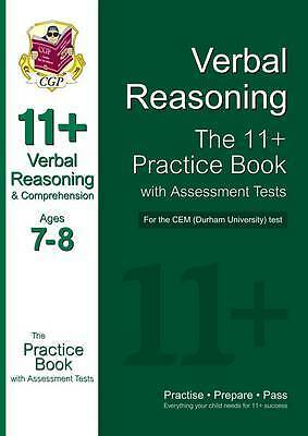 11+ Verbal Reasoning Practice Book with Assessment Tests (Age 7-8) for the CEM T