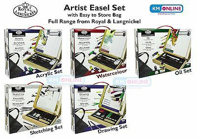 Artist Acrylic/water/oil/sketch Paint Easel Set & Storage Bag Royal Langnickel