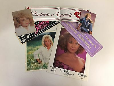 Vintage 1980s Barbara Mandrell Signed Photo Bumper Stickers Fan Club Country Lot