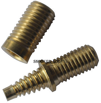 cue butt spiral joint brass pin and socket for mini butt or extension screw