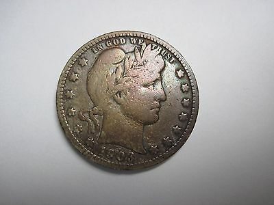 Circulated 1903 O Silver Barber Quarter Uncertified Ungraded Business Strike