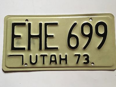 "1973 Utah License Plate ""Natural"" no stickers VG Nice!! LOW $2.99 SHIPPING"