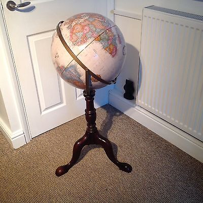 Vintage Library Style Floor Standing World Globe