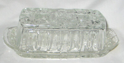 """7 3/8"""" Clear Pressed Glass Butter Dish BOTTOM ONLY!"""