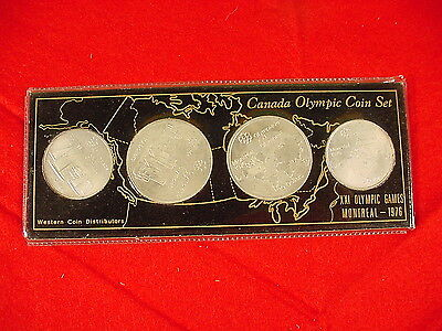 Canada 1976 Olympic Coin Set, XXI Montreal Games 2 $5, 2 $10 Silver Series 1