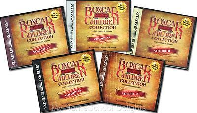 NEW 15 Audiobooks 5 BOXCAR CHILDREN COLLECTION Sets Volumes 11 - 15 30 Audio CDs
