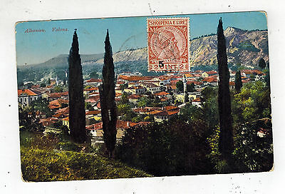 1910s VAlona Albania Real Picture Postcard Cover City View