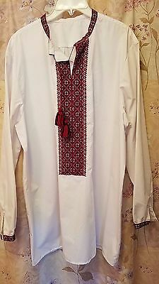 Ukrainian National Men's Shirt Vyshyvanka