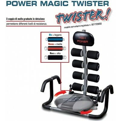 POWER MAGIC TWISTER HIGH POWER ALLENAMENTO sviluppare ADDOMINALI Addome Training