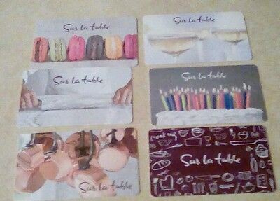 Sur la table Gift Cards Lot of Six  (6) Assorted 2016, Collectible, Mint