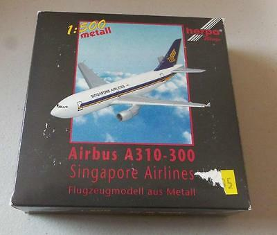 NEW HERPA WINGS 500937 Airbus A310-300 Singapore Airlines 1:500 Scale Black  Box