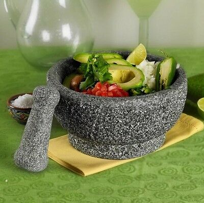 """CASA MARIA Natural Stone Pestle and Mortal 8.5"""" Grinder/ Spice Crusher"""