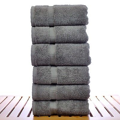Luxury Hotel & Spa Towel 100% Cotton Hand Towels -NEW -Set of 6 (MANY COLORS)