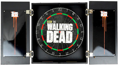 Dart Board Cabinet ~ Walking Dead *High Quality* Collector Set ~ Brand New