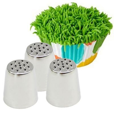 Grass Baking Decorating Cupcake Cake Icing Piping Nozzles Tips Pastry Tool