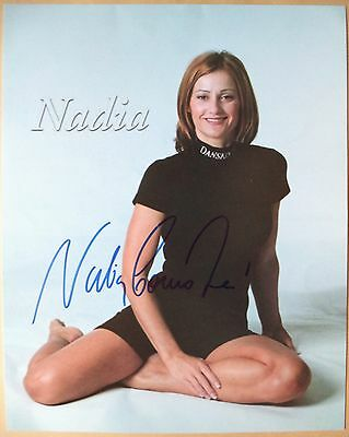 Nadia Comaneci - 1976 Olympic Games Gymnastics Gold Medal Signed Photograph