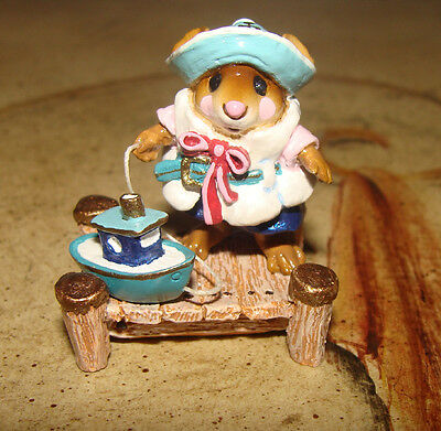 Wee Forest Folk AHOY! Ahoy - Mouse Social Special - Pink Blue & White