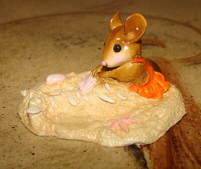Wee Forest Folk THE LITTLE MERMOUSE - Mouse Social Special - Orange Version