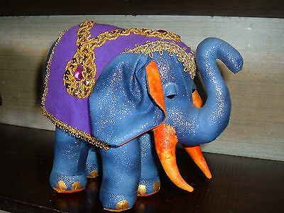 Elephant Cloth Doll Pattern By Judith Prior.