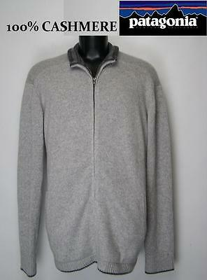 PATAGONIA Men's 100% CASHMERE Full Zip SWEATER Long Sleeve Size XXL 2XL