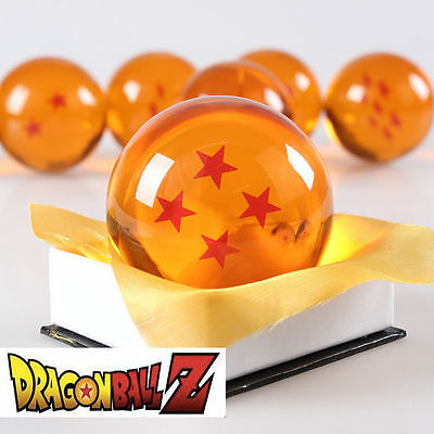 New Dragonball Z Dragon Ball Large 4 Star Crystal Resin 3'' 7.6cm *USA Seller