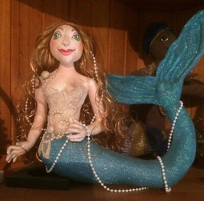 "Cloth Doll Pattern ""Coraliee"" the mermaid by Judih Prior"