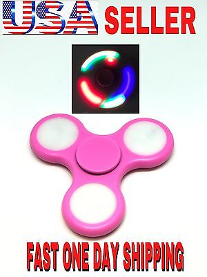 LOT OF PINK BEST LED Spinner Fidget,AUTO FLASHING,WHOLESALE ,CHRISTMAS GIFT
