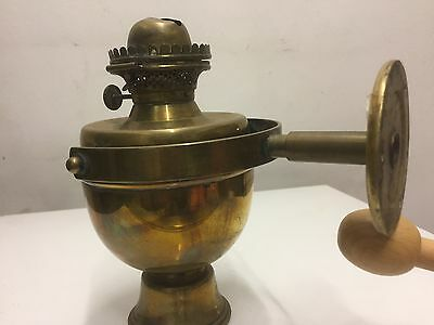 Vintage Nautical Brass Gimbaled Antique Lantern Lamp
