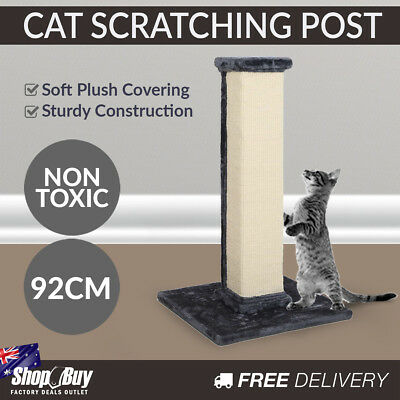 92cm Cat Scratching Post Tower Sisal House Furniture Tree Scratcher Pole Gym