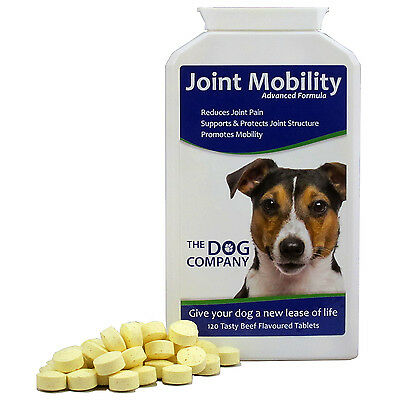 Joint Mobility Dog Supplement Tablets, Pain Relief for Hip Dysplasia & Arthritis