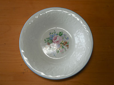 "Tabletops Unlimited VICTORIAN ROSE Set of 6 Soup Cereal Bowls 8"" White Pink"