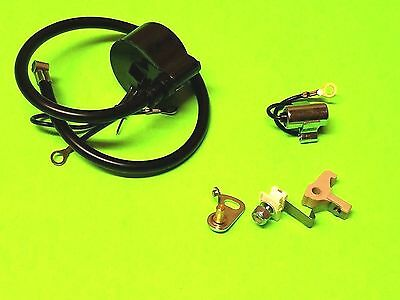 New IGNITION COIL / MODULE w/ Ignition Set POINTS & CONDENSER for Tecumseh
