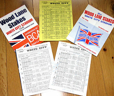 5 x Finals Of The Wood Lane Stakes @ White City London Rare Greyhound Racecards