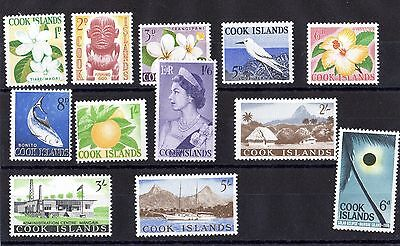 Cook Islands 1960/63 Set To 5/- SG163/174 Mint MLH X6277
