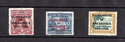 Cook Islands KGV 1935 Silver Jubilee Set SG113/115 Mint MH X6279